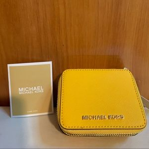 "🆕 Michael Kors ""Jasmine"" yellow jewelry case"
